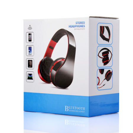ICellway Bluetooth Headphone Over Ear, Stereo Bass Wireless Headset, Foldable Portable, Built-in Mic and Wired Mode for Cell Phones\Laptops\PC\TV