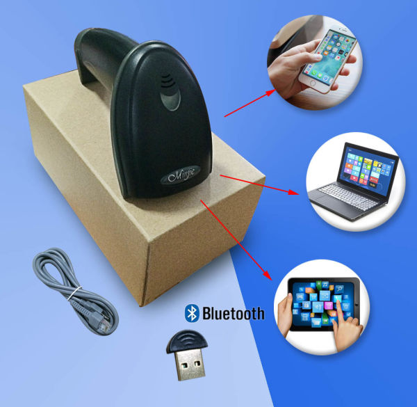 Best Quality 1D Reader Factory Supply Bluetooth Wireless Barcode Scanner,  Pharmacode Reader 1 Unit / Box