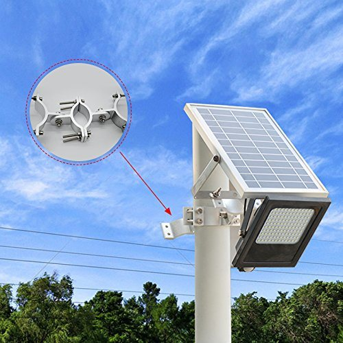 For Sunwebcam 120 Led Solar Ed Floodlights Outdoor Security Light 1000 Lumen Ip65 Waterproof With Lamppost Connector Auto On Off And Smart