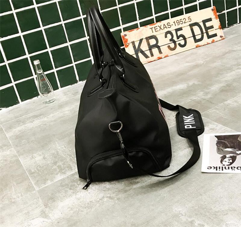 3f52fe0878 Shop for Sequins PINK Letter Print Women Gym Bag Fitness Travel ...