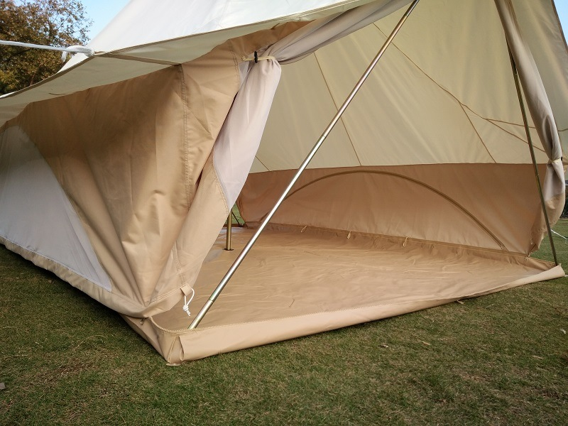Shop for Beige 4x3m Cotton Canvas Tent Luxury Gl&ing Safari Tent for Family Outdoor Sibley Tent at the Competitive Price on CROV.com & Shop for Beige 4x3m Cotton Canvas Tent Luxury Glamping Safari Tent ...