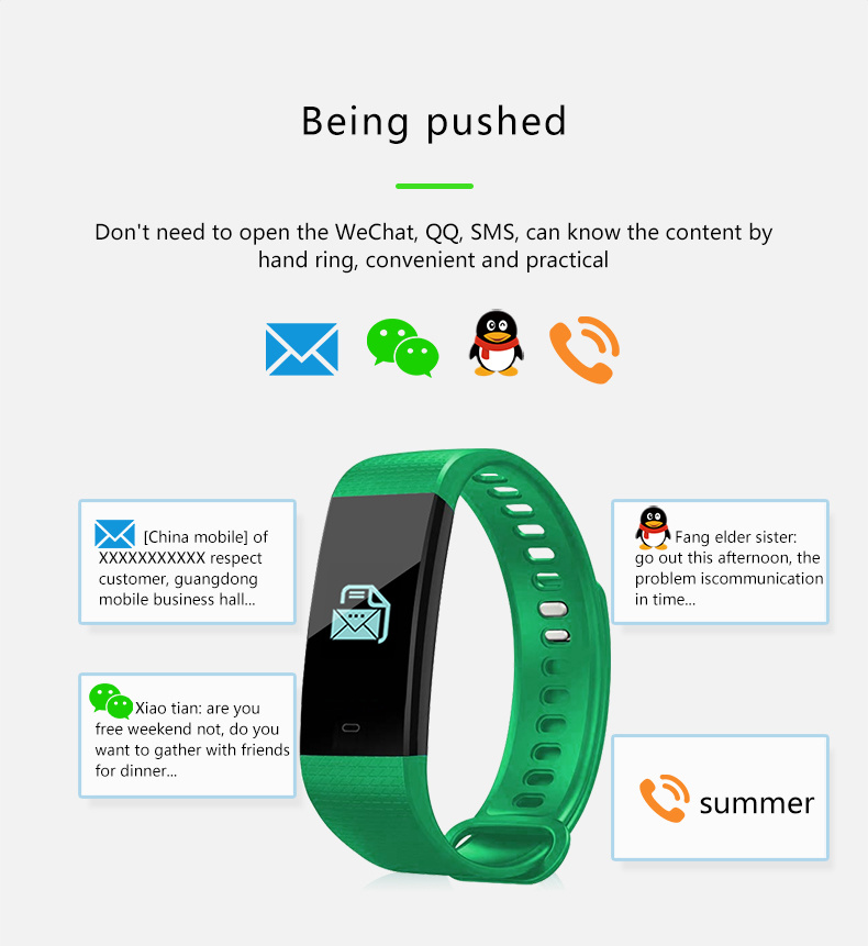 86b05644bb Shop for Y5 Bluetooth Smart Bracelet Color Screen Smartband Heart ...