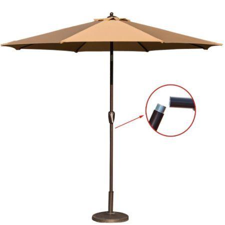 Toucan Outdoor 9 Ft Market Table Patio Umbrella With Tilt And Handy Crank,  8 Ribs
