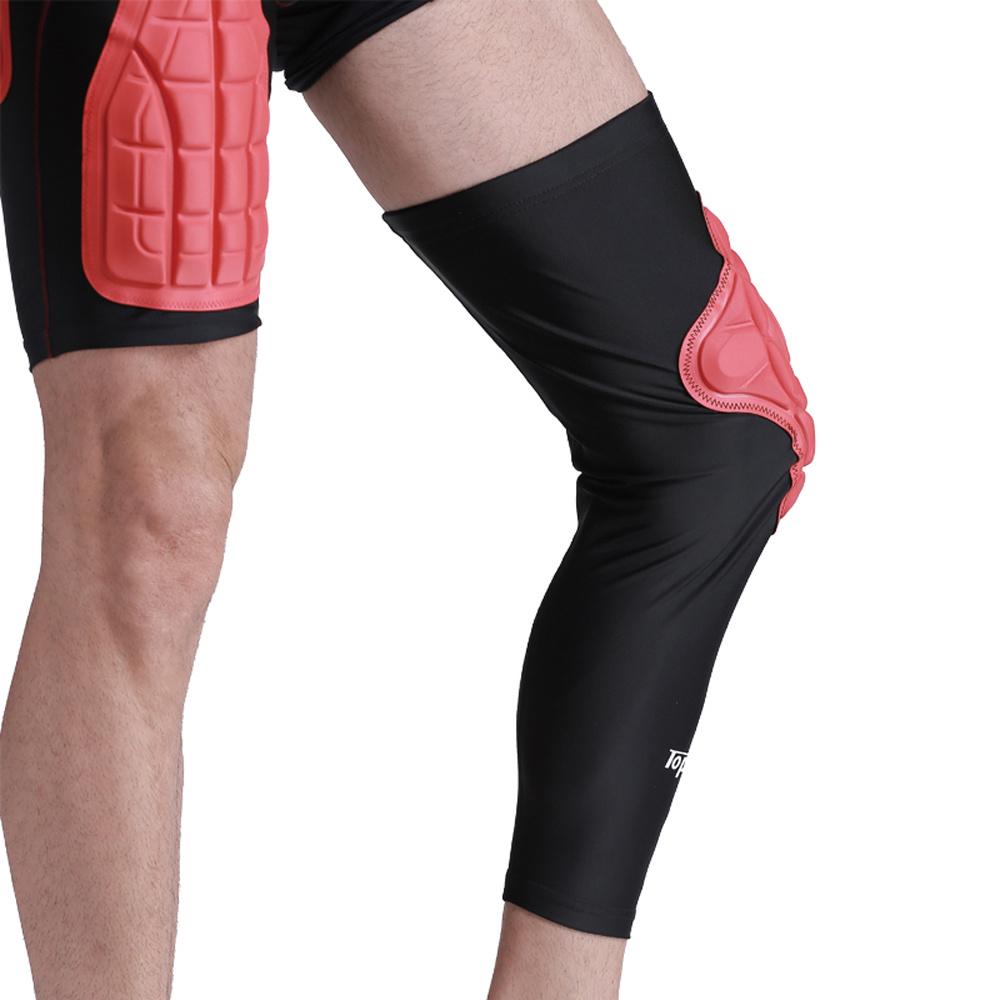 Shop For Protective Compression Knee Pads Crashproof Breathable Leg Sleeve Kneepad Softball Football Basketball Sports Pad Protector Brace At