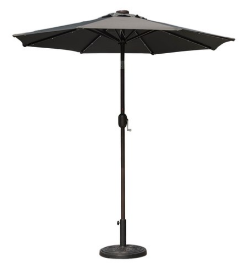 Shop for Sundale Outdoor 7 ft Solar Powered 24 LED Lighted Patio Umbrella Table Market Umbrella with Crank and Push Button Tilt for Garden Deck Backyard ...  sc 1 st  Crov.com : lighted outdoor canopy - afamca.org