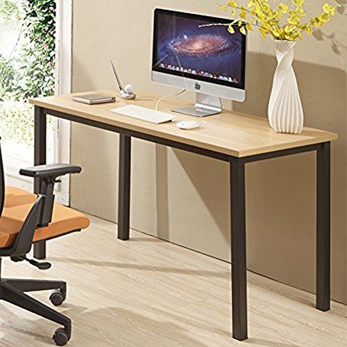 Excellent Cuboc 47 Large Size Modern Computer Desk Long Office Desk Writing Desk Workstation Table For Home Office Beech 1 Piece Carton Home Interior And Landscaping Palasignezvosmurscom