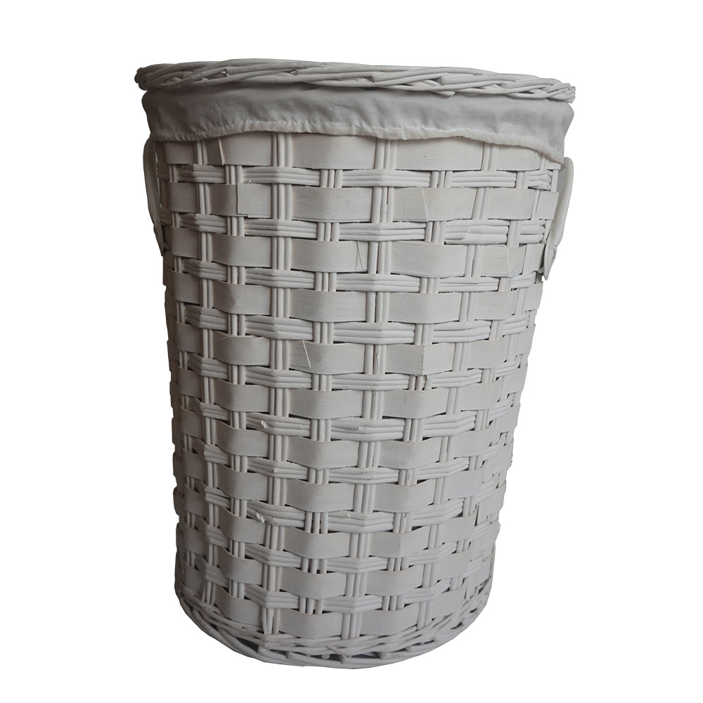 For Sanet Jl 010 Wicker Round Laundry Basket Hamper With Lid Color Grey Set Of 3 At Whole On Crov Com