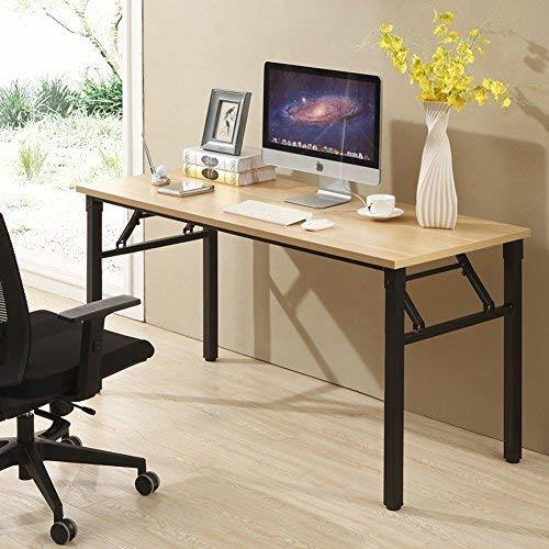 Pleasant Cuboc 59 Large Size Modern Computer Desk Long Office Desk Writing Desk Workstation Table For Home Office Beech 1 Piece Box Home Interior And Landscaping Palasignezvosmurscom