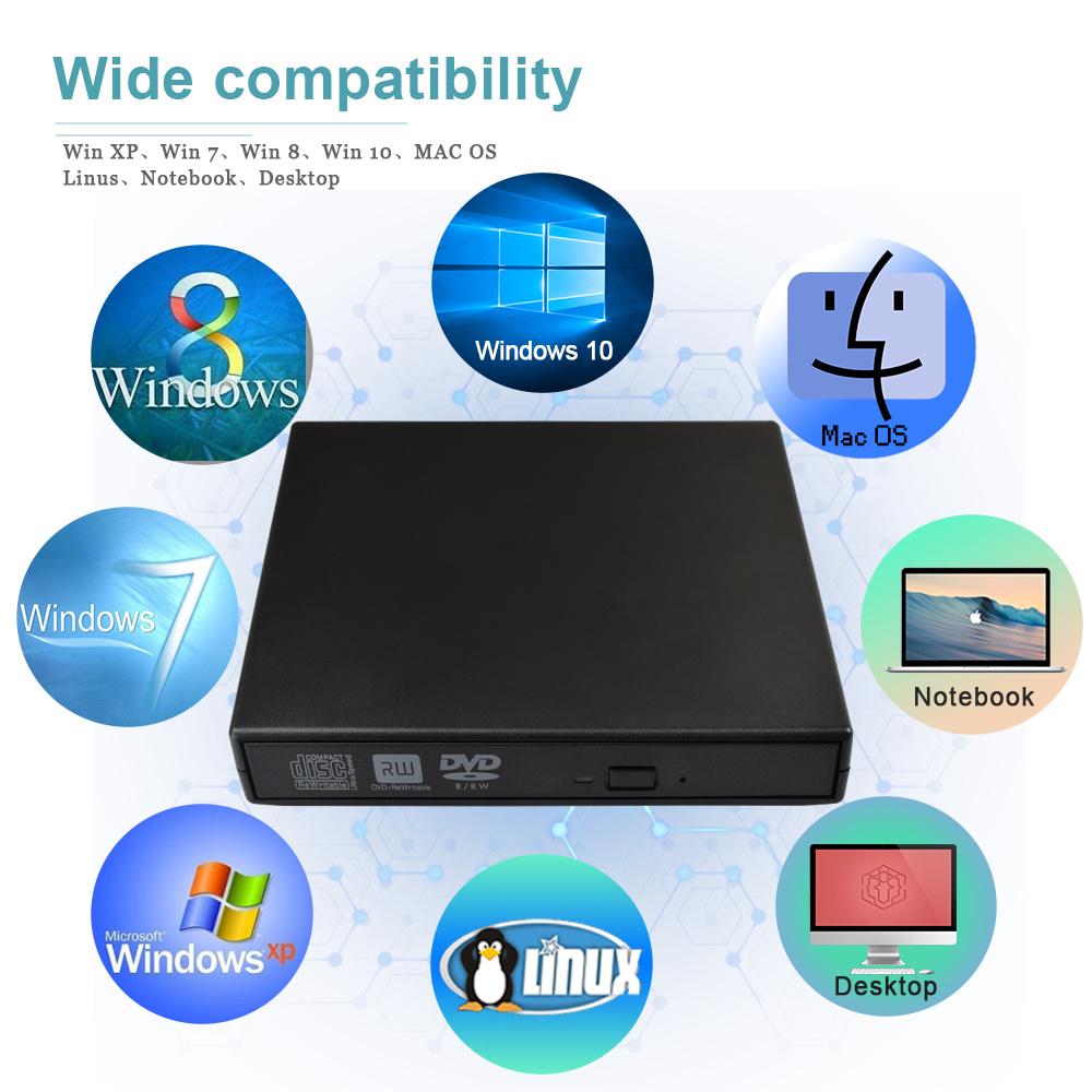 Shop for External DVD CD Burner Drive, Portable USB 2 0 DVD CD Drive