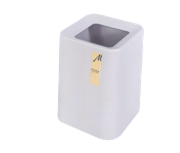 Plastic Small Trash Can Wastebasket Garbage Container Bin For Bathroom Kitchen Laundry Room
