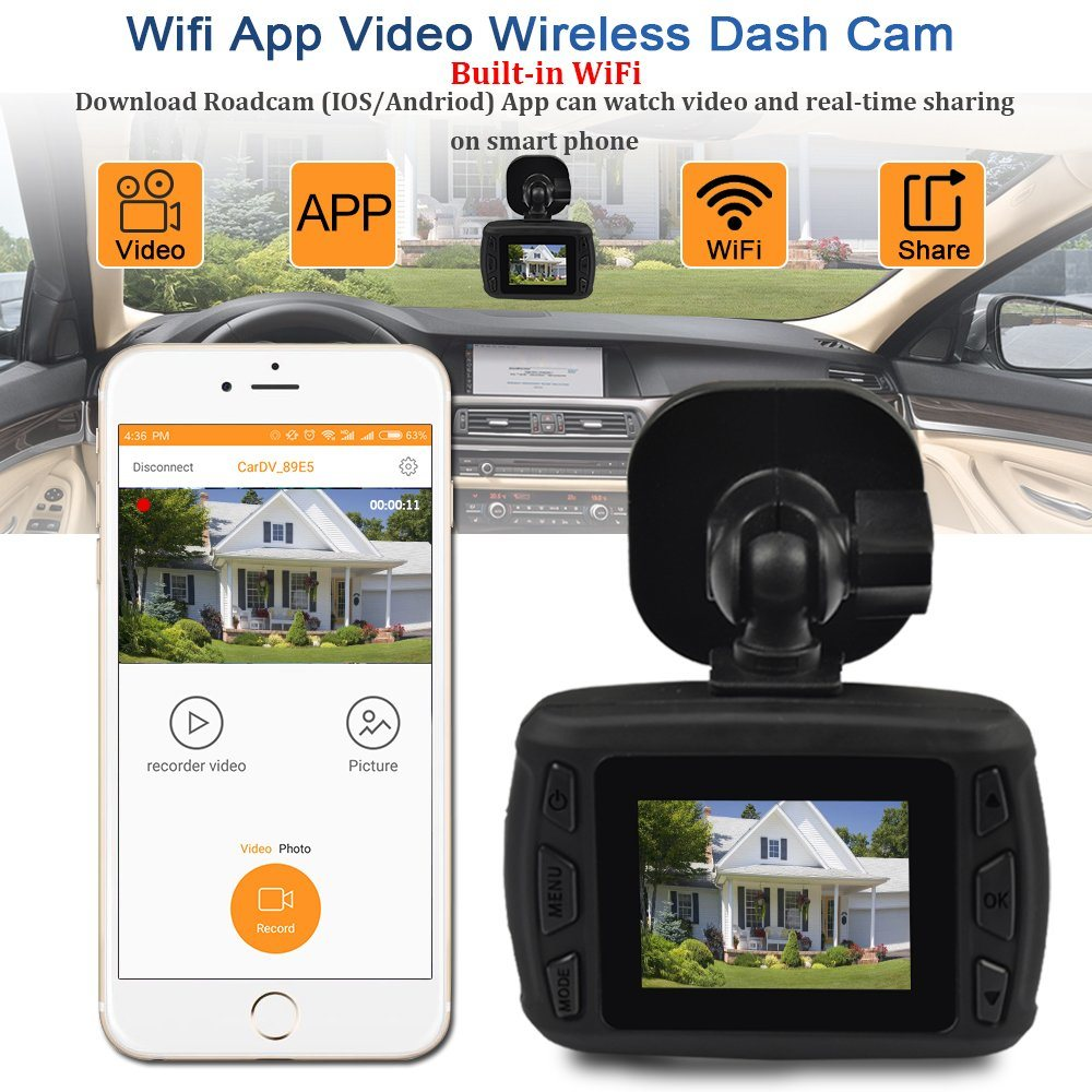 Shop for Dash Cam WiFi Car DVR 1080P Full HD 1 5
