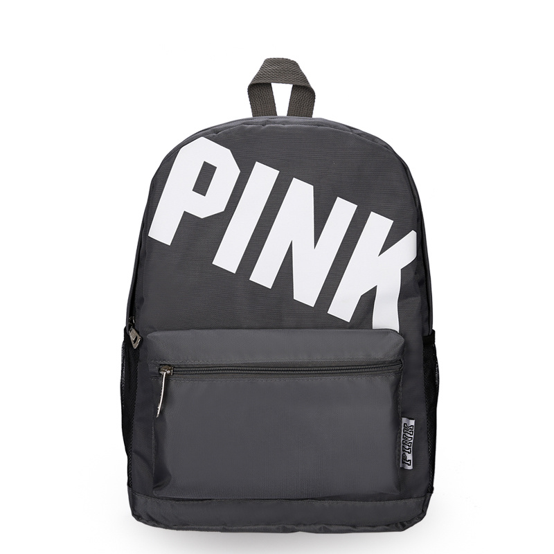 d87bf4443069 Shop for Pink Letter Backpack Women Girls Travel Sport Shoulder Bags ...