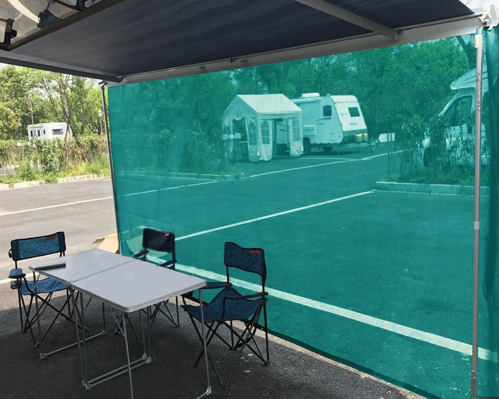 double awning tent itm mesh window screen roof flag polyester top canopy covered high sun suv fabric stitches rv car shade camper portable quality trailer waterproof shelter with