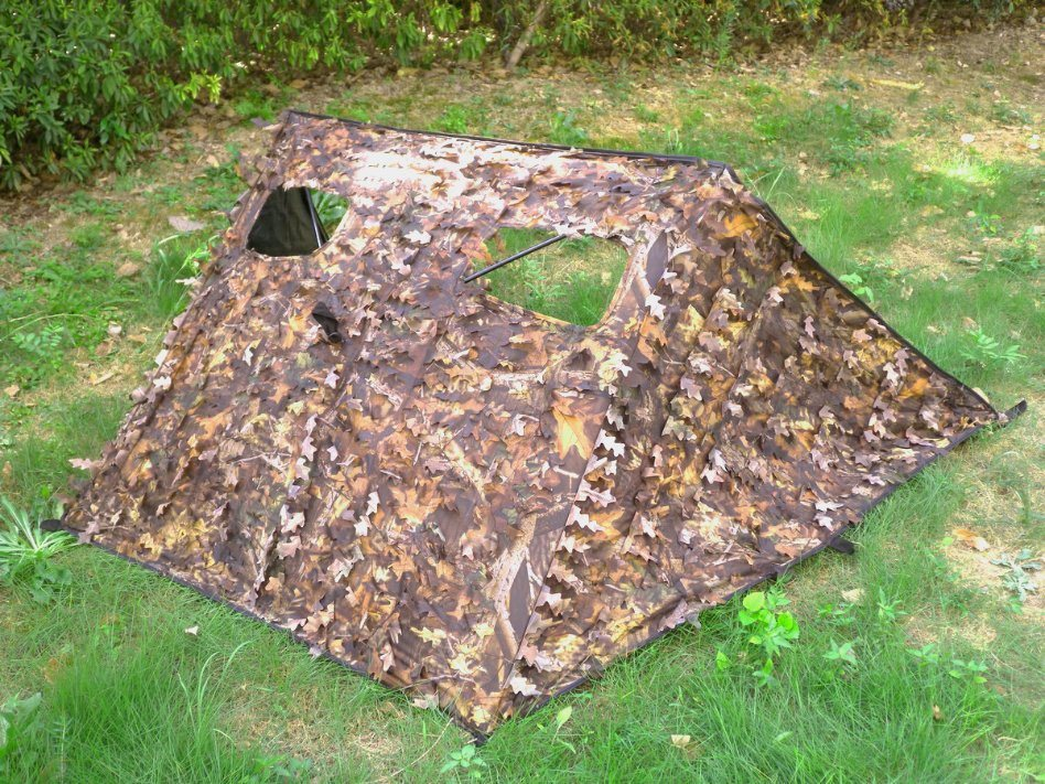 pop camouflage hunting ground blind up blinds hub tent
