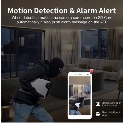 Wireless Security Camera IP Camera WIFI Home CCTV Camera 1080P 720P Audio  Surveillance P2P Night Vision Baby Monitor Cam 1 Piece / Box