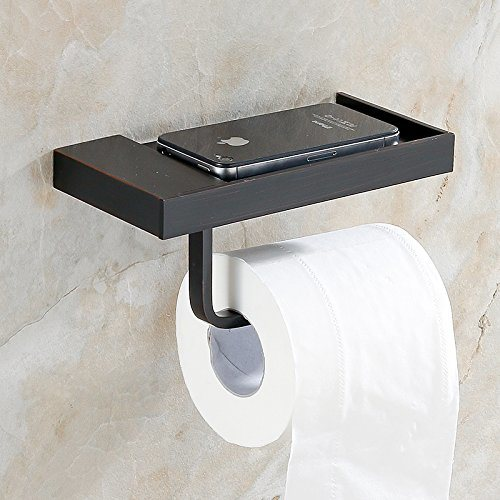 Flg Wall Mount Solid Br Toilet Roll Paper Holder Single Bathroom Accessory Oil Rubbed Bronze 1 Piece Box