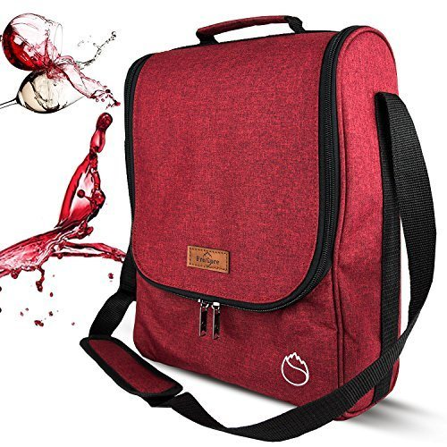 d3804512b547 Freshore Wine Purse Totes And Carriers 3 Bottle Tote Cooler Bag Wine Bag  Gift For Wine Connoisseur/ Sister - High Capacity Storage Champagne (Wine  ...