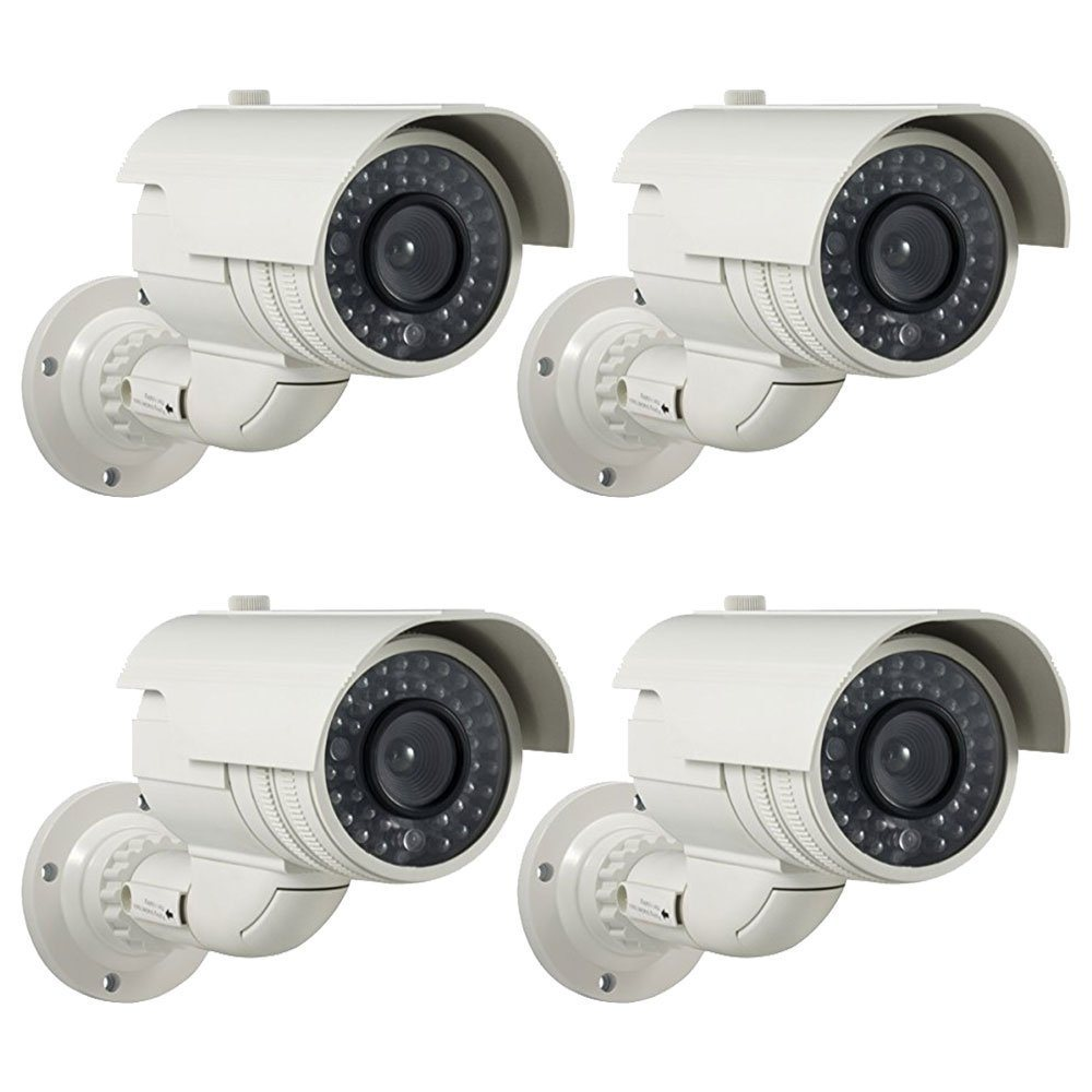 Shop For Masione 4 Pack Fake Dummy Bullet Security Surveillance Kamera Cctv Ir Led Camera With Flashing Red Light Simulated Decoy Infrared Blinking At Wholesale