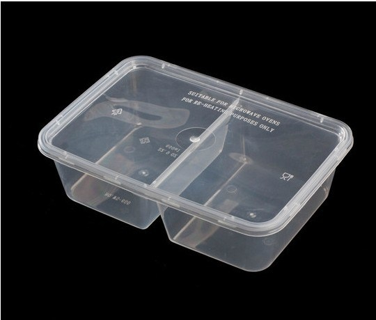 PP Clear Disposable Plastic Lunch Box, Plastic Food Container, Microwave  Safe PP Container Lunch Box 400 Pieces / Carton