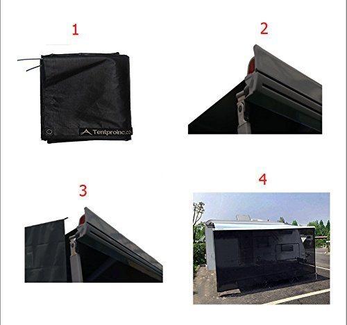 Tentproinc RV Awning Sun Shade 7'x13' Black Mesh Screen Sun Blocker  Complete Kits Drop Motorhome Trailer Tarp Canopy Shelter - 3 Years Limited