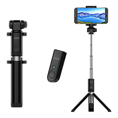 new arrivals cbd33 a5701 WER Selfie Stick Bluetooth, Extendable with Wireless Remote and Tripod  Stand for iPhone X /iPhone 8 /8 Plus/iPhone 7/iPhone 7 Plus/Galaxy Note  8/S8 ...