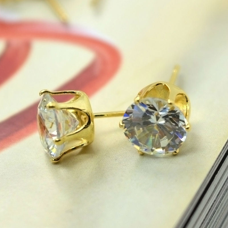 e279a9de4 Shop for Leiiy Exquisite Faceted Transparent Zircon Stud Earrings Set With Gold  Plated Love Letter Stud Earrings For Women 3 Pairs/set at Wholesale Price on  ...