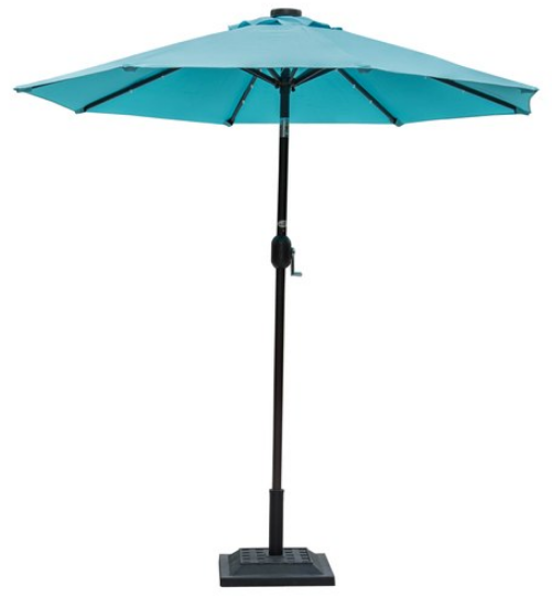 Shop for Sundale Outdoor 7 ft Solar Powered 24 LED Lighted Patio Umbrella Table Market Umbrella with Crank and Push Button Tilt for Garden Deck Backyard ...  sc 1 st  Crov.com & Shop for Sundale Outdoor 7 ft Solar Powered 24 LED Lighted Patio ...