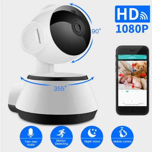 Wireless Security Camera IP Camera WIFI Home CCTV Camera 1080P 720P Audio  Surveillance P2P Night Vision Baby Monitor Cam 1 Piece / Box