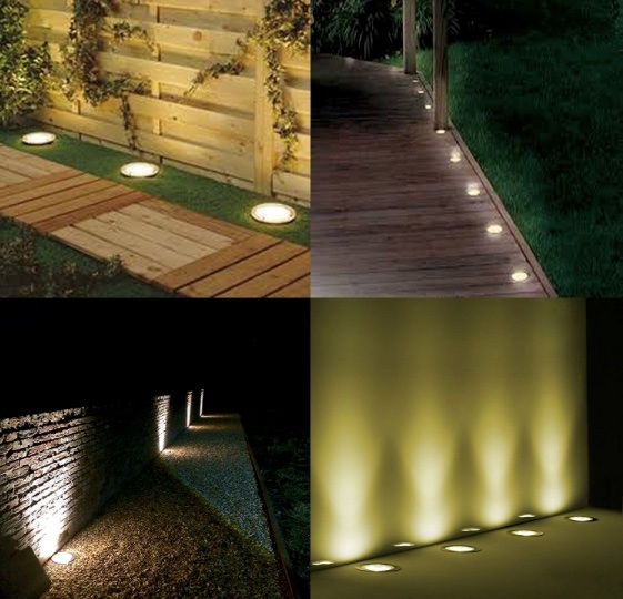 Solar Ground Lights 5 Led Path Outdoor Waterproof Garden Landscape Auto On