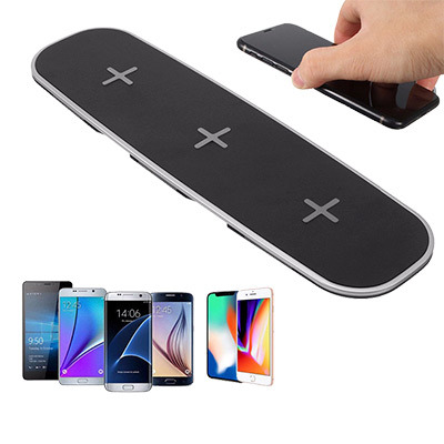 3 in 1 Qi Wireless Charger Charging Pad with 2 USB Charging Adapter for  iPhone 8/8 Plus/X for Samsung Galaxy S6/S7/S8/Note8 1 Box / Box