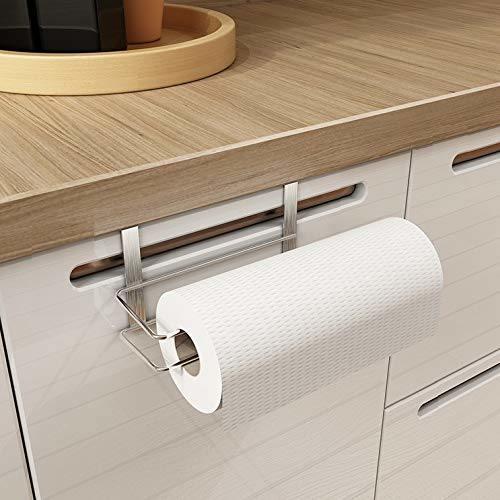 Paper Towel Holder Hanging Paper Towel Holder Under Cabinet Paper Towel Rack Hanger Over The Door Kitchen Roll Holder Stainless Steel Set Of 2 2