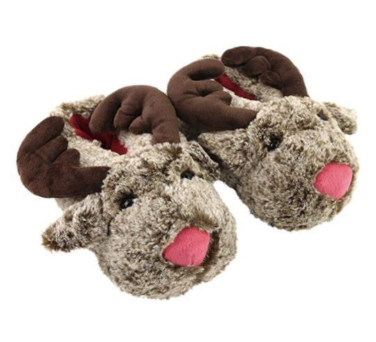 6932630ec75 Shop for Soft Cozy Plush Reindeer Slippers Mens Animals Slipper for Adults  at Wholesale Price on Crov.com