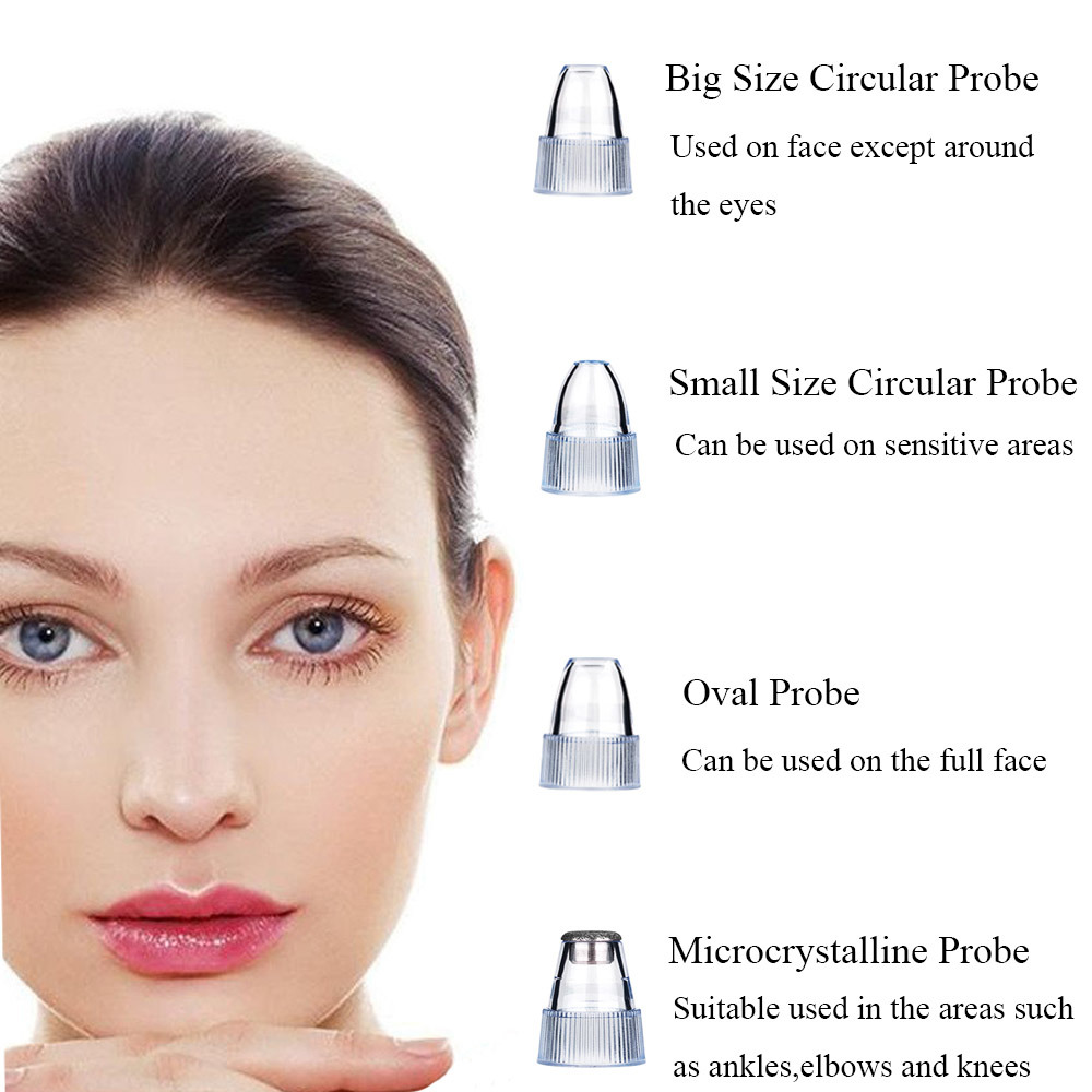 Shop For Blackhead Remover Vacuum Machine Electric Facial Pore Cleaner Acne Comedo Suction Microdermabrasion Exfoliating Extractor Usb Rechargeable Skin