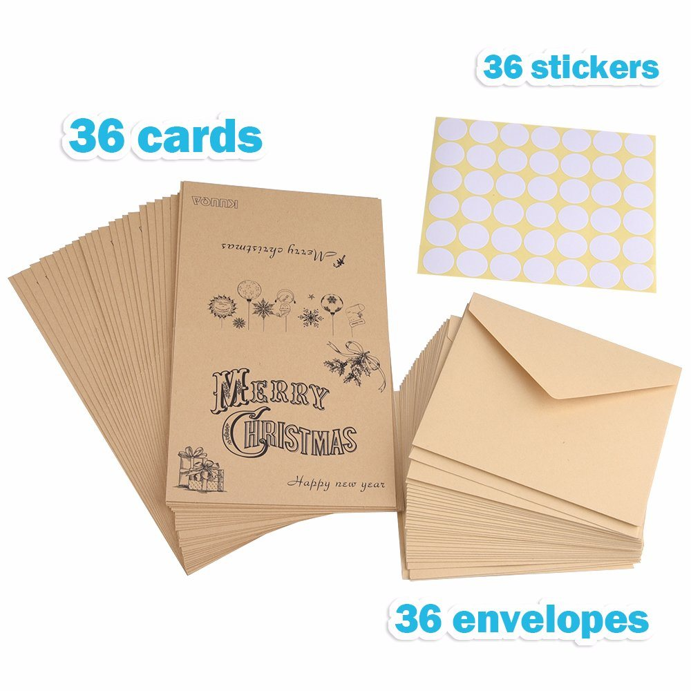 Shop for kuuqa 36 pieces merry christmas cards greeting notes cards shop for kuuqa 36 pieces merry christmas cards greeting notes cards with 36 envelopes and 36 stickers at the competitive price on crov kristyandbryce Images