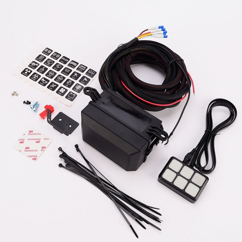 Shop For Universally 6 Gang Switch Panel Electronic Relay System Universal Wiring Harness Truck And Interior Lights Off Road Vehicle Accessories Package List 1 24 Stickers 2 Screws Mounting Bracket Tape