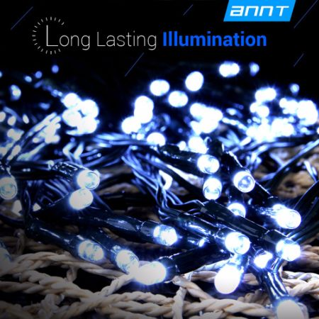 Waterproof Cool White Solar 73ft 200 Led String Fairy Lights Outdoor for Wedding Party