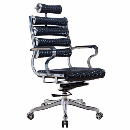 high back black leather executive reclining office chair shop for