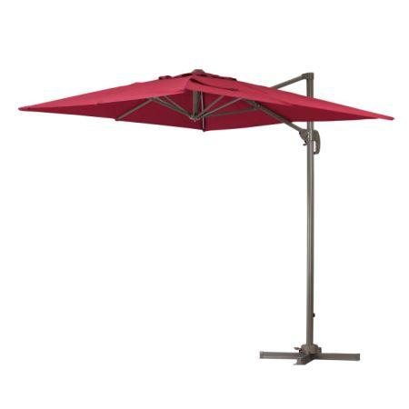 Green Garden Deluxe 6.5 X 10 Feet Cantilever Offset Patio Umbrella Square  Parasol Infinite Tilt Position