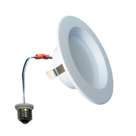 shop for 4 9w dimmable led recessed lighting 5000k daylight etl
