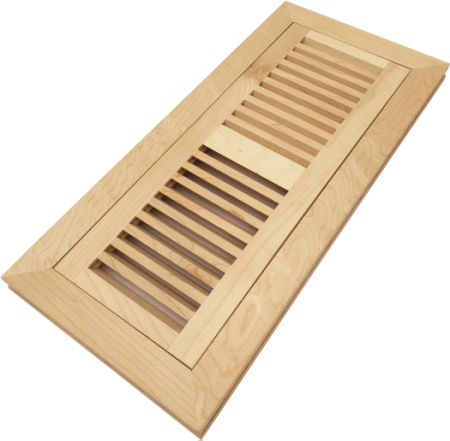 Shop For Homewell 4 X 12 Solid Maple Wood Vent Cover Floor Vent