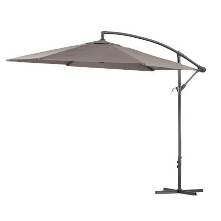 Green Garden 10 Feet Cantilever Offset Patio Umbrella With Infinite Tilt  Position And Cross Base