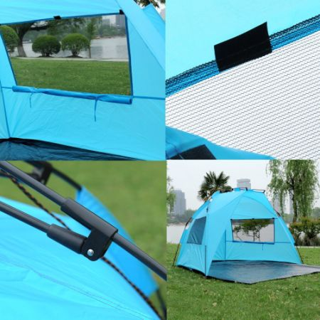 ShinyFunny Easy Pop Up Beach Tent Instant Sun Shade Shelter Portable Half C&ing Tent with Carry & Shop for ShinyFunny Easy Pop Up Beach Tent Instant Sun Shade ...