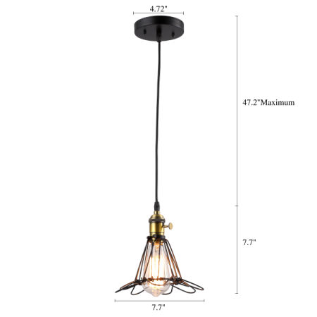 Shop for HOMIFORCE Vintage Style 1-light Industrial Wire Cage Light ...