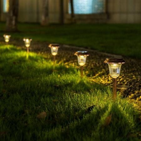 GIGALUMI Solar Path Lights Outdoor, Waterproof Outdoor Solar Lights for  Garden, Landscape, Path - Shop For GIGALUMI Solar Path Lights Outdoor, Waterproof Outdoor