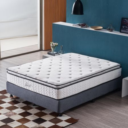 shop for pillow top mattress queen size 11 4 memory foam pocket spring sleep for bed at. Black Bedroom Furniture Sets. Home Design Ideas