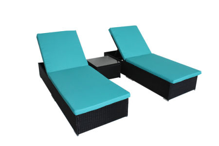 Ouutime Outdoor 3Pcs Adjustable Black Woven Rattan Couch Patio Synthetic Backyard Poolside Garden Rattan Sunbed Wicker  sc 1 st  Crov.com & Shop for Ouutime Outdoor 3Pcs Adjustable Black Woven Rattan Couch ...