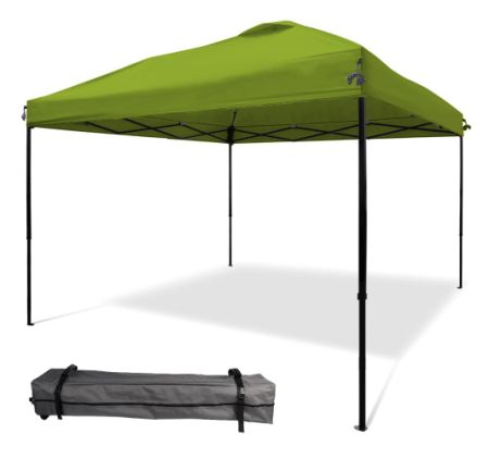 Pop Up Straight Leg Instant Canopy Tent Beach Shelter Camping Tent With Wheeled Carry Bag
