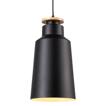 HOMIFORCE Vintage Style 1 Light Large Black Dome Pendant Light With Metal  Shade In Matte