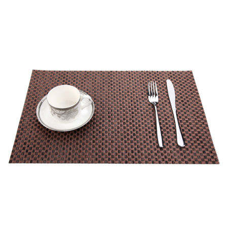 Delightful PVC Heat Resistant Placemats Dining Room Placemats Dinner Table Place Mats  For Dining Table Heat