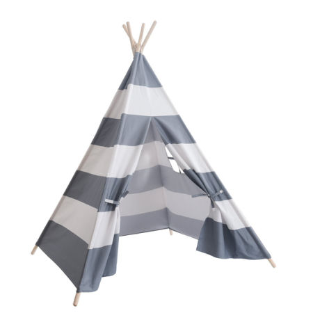 100% Cotton Canvas Grey and White Stripes Kids Play Tent Indian Play Teepee Tent  sc 1 st  Crov.com & Shop for 100% Cotton Canvas Grey and White Stripes Kids Play Tent ...